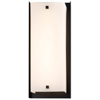 Justice Design FSN-7652W-OPAL-MBLK Fusion LED 24 inch Matte Black Outdoor Wall Sconce Square