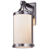 Justice Design FSN-7664W-OPAL-NCKL Fusion 1 Light 16 inch Brushed Nickel Outdoor Wall Sconce Cylinder