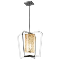 Justice Design FSN-8011-MROR-CROM Fusion 1 Light 18 inch Chandelier Ceiling Light in Polished Chrome Mercury Glass Incandescent