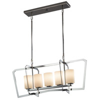 Justice Design FSN-8015-10-OPAL-CROM Fusion 5 Light 14 inch Chandelier Ceiling Light thumb