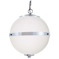 Justice Design FSN-8040-OPAL-CROM Fusion Imperial LED 17 inch Polished Chrome Chandelier Ceiling Light