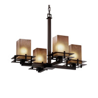 Justice Design FSN-8100-10-SEED-DBRZ-LED4-2800 Fusion LED 25 inch Dark Bronze Chandelier Ceiling Light in 2800 Lm LED, Cylinder with Flat Rim, Seeded