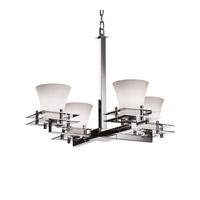 Justice Design FSN-8100-20-OPAL-CROM-LED4-2800 Fusion LED 25 inch Polished Chrome Chandelier Ceiling Light Metropolis