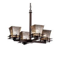 Justice Design Metropolis 4 Light Chandelier in Dark Bronze FSN-8100-40-MROR-DBRZ