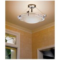Justice Design FSN-8111-35-OPAL-CROM-LED3-3000 Fusion LED 22 inch Polished Chrome Semi-Flush Ceiling Light