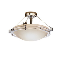 Metropolis 3 Light 22 inch Polished Chrome Semi-Flush Ceiling Light in Opal