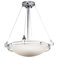 Justice Design FSN-8121-35-OPAL-CROM Fusion Metropolis 3 Light 22 inch Polished Chrome Pendant Bowl Ceiling Light in Opal Incandescent