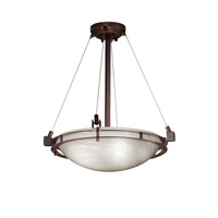 Justice Design Metropolis 3 Light Pendant in Dark Bronze FSN-8121-35-WEVE-DBRZ