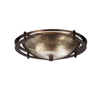 Justice Design Metropolis 2 Light Semi-Flush in Dark Bronze FSN-8150-35-MROR-DBRZ