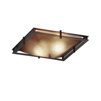 Justice Design Metropolis 2 Light Semi-Flush in Dark Bronze FSN-8160-25-CRML-DBRZ