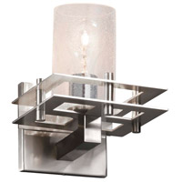 Justice Design FSN-8171-15-RBON-CROM-LED1-700 Fusion LED 7 inch Polished Chrome Wall Sconce Wall Light in 700 Lm LED, Ribbon, Square with Flat Rim