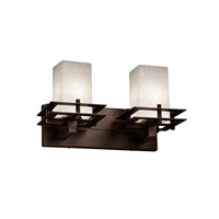 Justice Design Metropolis 2 Light Vanity Light in Dark Bronze FSN-8172-15-WEVE-DBRZ