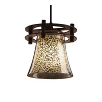 Justice Design Fusion 1 Light Pendant in Dark Bronze FSN-8265-20-MROR-DBRZ-BKCD