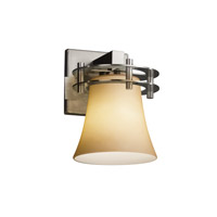 Fusion 1 Light 8 inch Brushed Nickel Wall Sconce Wall Light in Almond, Round Flared