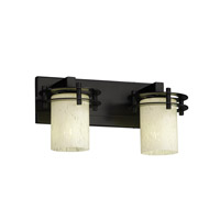 Fusion 2 Light 17 inch Matte Black Bath Light Wall Light in Droplet, Cylinder with Flat Rim