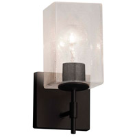 Matte Black/Frosted Metal Wall Sconces