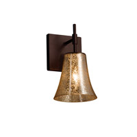 Fusion LED 6 inch Dark Bronze Wall Sconce Wall Light in Mercury Glass, 700 Lm 1 Light LED, Round Flared