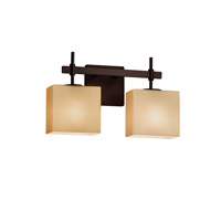 Fusion LED 15 inch Dark Bronze Vanity Light Wall Light in Almond, 1400 Lm 2 Light LED, Rectangle