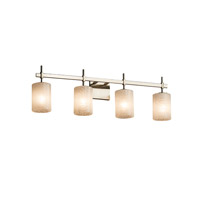 Justice Design Group Fusion LED Vanity Light in Brushed Nickel FSN-8414-10-WEVE-NCKL-LED4-2800