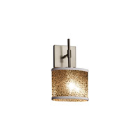 Justice Design Group Fusion LED Wall Sconce in Brushed Nickel FSN-8417-30-MROR-NCKL-LED1-700