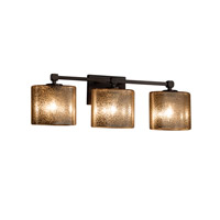 Fusion 3 Light 25 inch Dark Bronze Vanity Light Wall Light in 7.75, Mercury Glass, Incandescent, 24.5, Oval