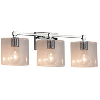 Justice Design FSN-8423-30-SEED-CROM Fusion 3 Light 22 inch Polished Chrome Bath Bar Wall Light in Oval Incandescent Seeded