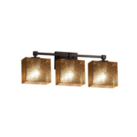 Fusion 3 Light 24 inch Dark Bronze Vanity Light Wall Light in 7.25, Mercury Glass, Incandescent, 23.5, Rectangle