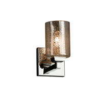 Justice Design Group Fusion LED Wall Sconce in Polished Chrome FSN-8431-10-MROR-CROM-LED1-700