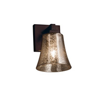 Justice Design Group Fusion LED Wall Sconce in Dark Bronze FSN-8431-20-MROR-DBRZ-LED1-700
