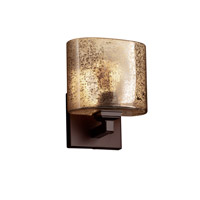 Justice Design Group Fusion LED Wall Sconce in Dark Bronze FSN-8437-30-MROR-DBRZ-LED1-700