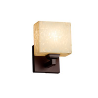 Fusion LED 6 inch Dark Bronze ADA Wall Sconce Wall Light in Rectangle, Droplet, 700 Lm 1 Light LED