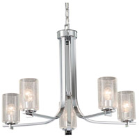 Fusion 5 Light 27 inch Polished Chrome Chandelier Ceiling Light