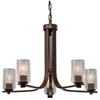 Fusion 5 Light 27 inch Dark Bronze Chandelier Ceiling Light