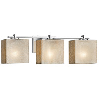 Justice Design FSN-8443-55-MROR-CROM Fusion 3 Light 26 inch Vanity Light Wall Light in Polished Chrome Mercury Glass Rectangle Incandescent