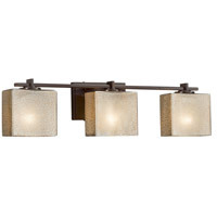 Fusion 3 Light 26 inch Vanity Light Wall Light in 6.25, Mercury Glass, Dark Bronze, Incandescent, 25.75, Rectangle