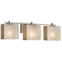 Justice Design FSN-8443-55-MROR-NCKL Fusion 3 Light 26 inch Vanity Light Wall Light in Brushed Nickel Mercury Glass Rectangle Incandescent