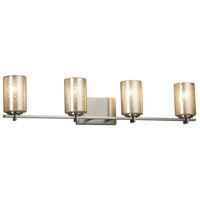 Fusion 4 Light 34 inch Vanity Light Wall Light in 6.75, Mercury Glass, Brushed Nickel, Incandescent, Cylinder with Flat Rim