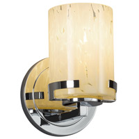 Justice Design FSN-8451-10-SEED-MBLK Fusion 1 Light 5 inch Matte Black Wall Sconce Wall Light in Incandescent, Seeded
