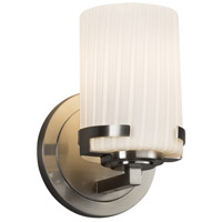 Justice Design FSN-8451-10-RBON-NCKL Fusion 1 Light 5 inch Wall Sconce Wall Light in Brushed Nickel Ribbon Incandescent