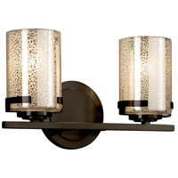 Justice Design FSN-8452-10-MROR-DBRZ-LED2-1400 Fusion LED 14 inch Vanity Light Wall Light in 1400 Lm LED Dark Bronze Mercury Glass
