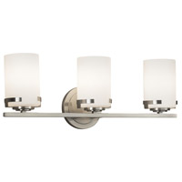 Fusion 3 Light 23 inch Vanity Light Wall Light in Opal, Brushed Nickel, Incandescent