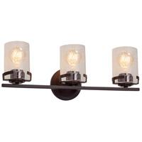 Justice Design FSN-8453-10-SEED-DBRZ Fusion 3 Light 23 inch Dark Bronze Bath Bar Wall Light in Incandescent Seeded