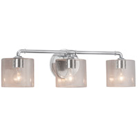 Justice Design FSN-8463-30-SEED-CROM Fusion 3 Light 26 inch Polished Chrome Bath Bar Wall Light in Oval Incandescent Seeded