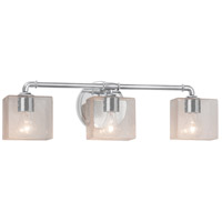 Justice Design FSN-8463-55-SEED-CROM Fusion 3 Light 25 inch Polished Chrome Bath Bar Wall Light in Rectangle Incandescent Seeded