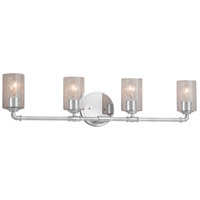 Justice Design FSN-8464-18-OPAL-CROM-LED4-2800 Fusion LED 35 inch Polished Chrome Bath Bar Wall Light in 2800 Lm LED, Opal, Tapered Cylinder photo thumbnail