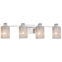 Fusion Ardent 4 Light 33 inch Polished Chrome Bath Bar Wall Light
