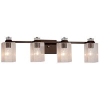 Fusion Ardent 4 Light 33 inch Dark Bronze Bath Bar Wall Light
