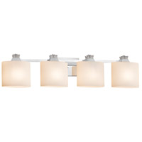 Justice Design FSN-8474-30-OPAL-CROM Fusion Ardent 4 Light 35 inch Polished Chrome Bath Bar Wall Light