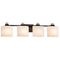 Justice Design FSN-8474-30-OPAL-DBRZ-LED4-2800 Fusion Ardent LED 35 inch Dark Bronze Bath Bar Wall Light