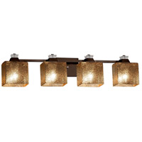 Fusion Ardent 4 Light 34 inch Dark Bronze Bath Bar Wall Light